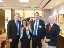 From left to right: Patrick Jeary, Christine I. Caly-Sanchez, Glenn Cooper, David Munn