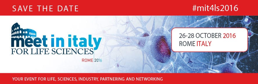 Meet In Italy for Life Sciences 2016, Rome 26th - 28th October